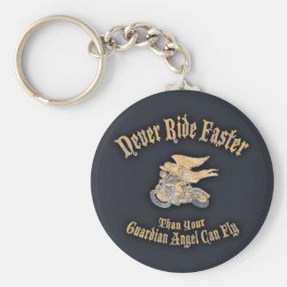 Angel Speed Basic Round Button Key Ring