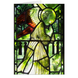 Angel Stained Glass Christmas Blessings Card