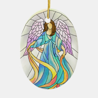 Angel Stained Glass Ornament