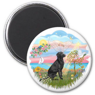 Angel Star - Black Lab Magnet