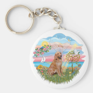 Angel Star - Golden Retriever #2 Key Ring