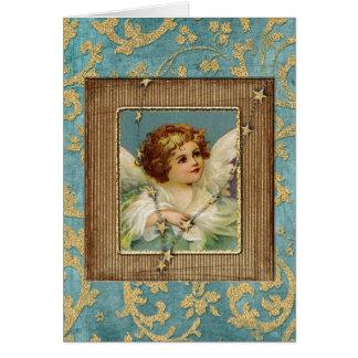 Angel Star Happy Holidays Greeting Card