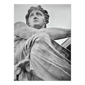 Angel statue 17 cm x 22 cm invitation card