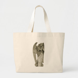 Angel Statue Canvas Bags