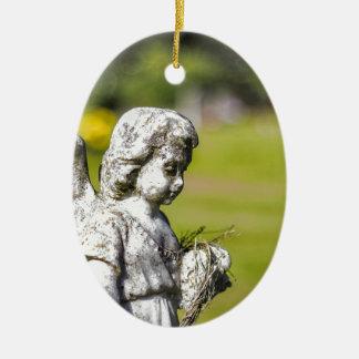 Angel Statue Christmas Ornament