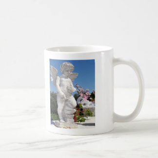 Angel Statue Classic White Coffee Mug