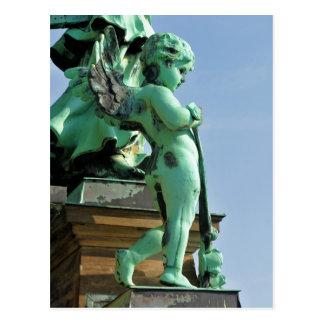 Angel statue in Berlin, Germany Postcard