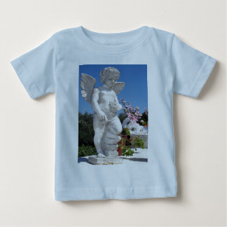 Angel Statue In Light Blue Shirts