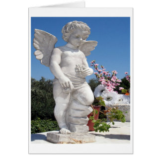 Angel Statue In White Greeting Card