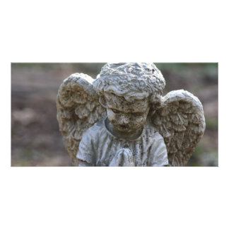 angel statue picture card