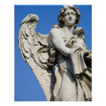 Angel statue, Ponte Sant'Angelo, Rome, Italy Poster