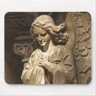 Angel Statue with Crossed Hands, Buenos Aires Mouse Mat