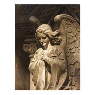 Angel Statue with Crossed Hands, Buenos Aires Postcard