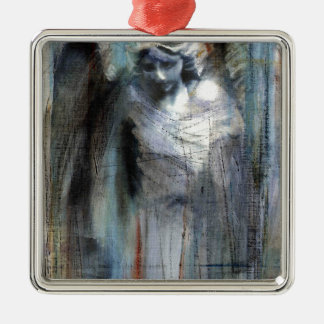 Angel study 11 Silver-Colored square decoration
