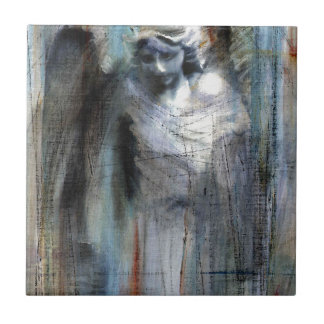 Angel study 11 small square tile