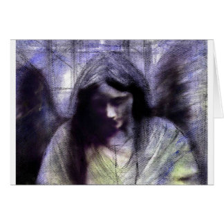 Angel study 19 second version greeting card