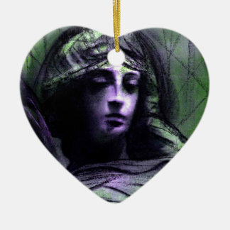Angel study 7b ceramic heart decoration