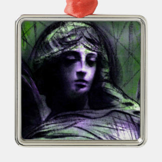 Angel study 7b Silver-Colored square decoration