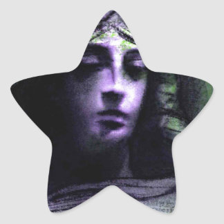 Angel study 7b star sticker