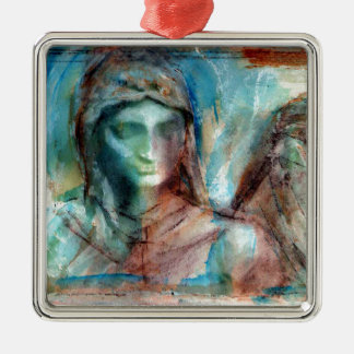 angel study f6 christmas ornament