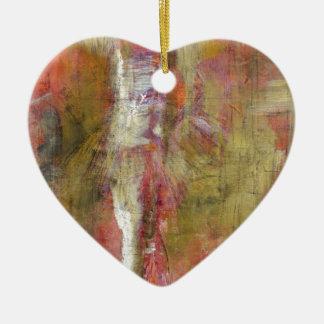 angel study f9 ceramic heart decoration