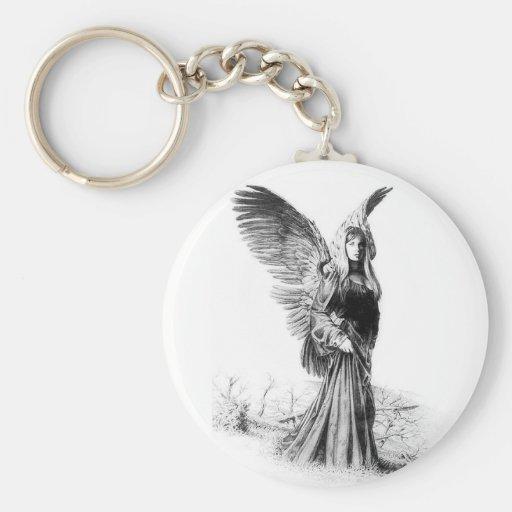 angel tattoo key chains