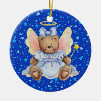 Angel Teddy Bear Christmas Ornament