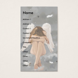 Angel template business card