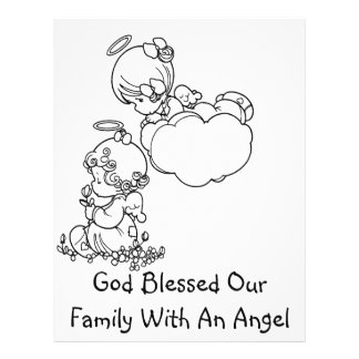 Angel Tots - Birth Announcement 21.5 Cm X 28 Cm Flyer