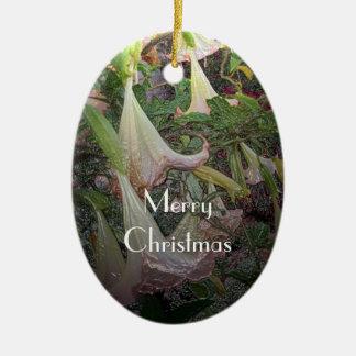 Angel Trumpets Christmas Ornament