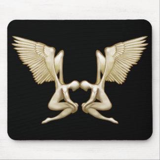 Angel Twins Mouse Pad
