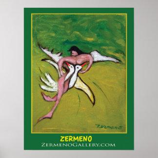 """Angel"" (Two) by Zermeno Poster"