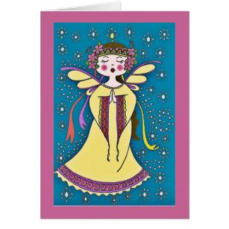 Angel Ukrainian Folk Art Greeting Card