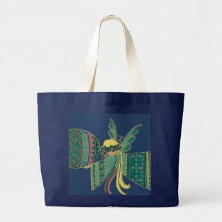 Angel Ukrainian Folk Art Large Tote Bag