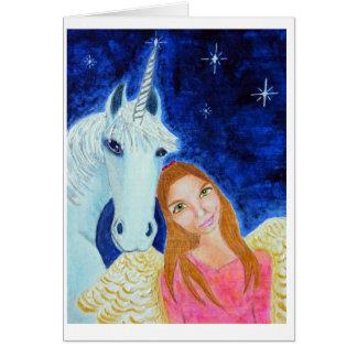 Angel & Unicorn Notelet Card