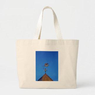 Angel Weather Vane Bright Blue Sky Canvas Bag