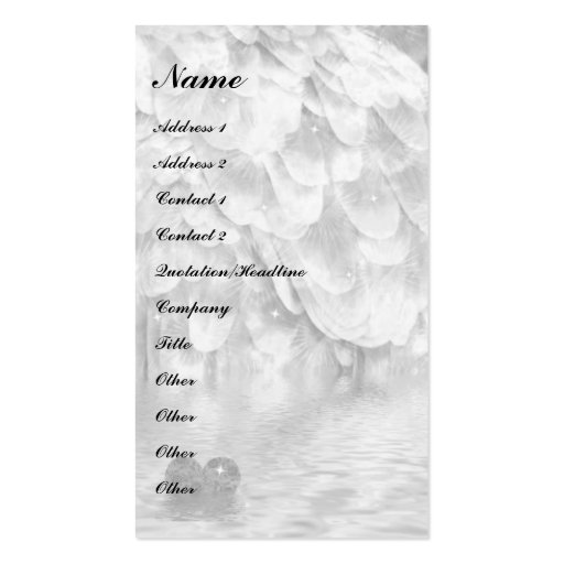 Angel wing and heart! pack of standard business cards