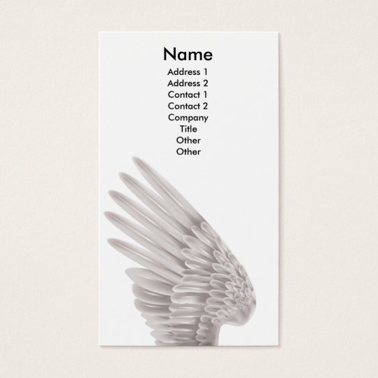 Angel wing business card