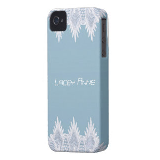 angel wing lace iphone-blue iPhone 4 cover