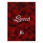 Angel Wing Sweet 16 Birthday Goth Invitation