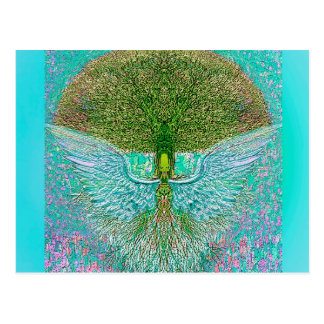 Angel Wing Tree of Life Postcard