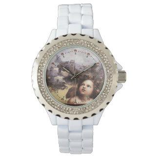 ANGEL ,Winged Cherub Wristwatch
