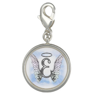 Angel Wings and Halo Monogram Letter E