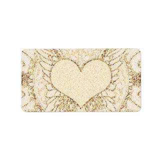 Angel Wings and Heart Label