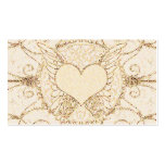 Angel Wings and Heart Pack Of Standard Business Cards