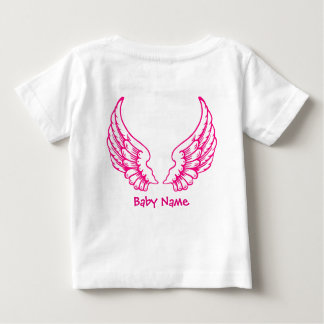Angel Wings Baby Name Pink T-Shirt