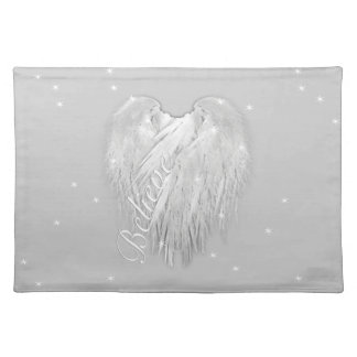 ANGEL WINGS 'Believe' Magic Heart Placemat