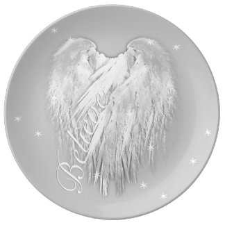 ANGEL WINGS 'Believe' Magic Heart Plate