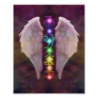 Angel Wings Chakra Poster