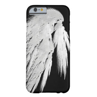 ANGEL WINGS Gray Touched Feathers Left Custom Barely There iPhone 6 Case